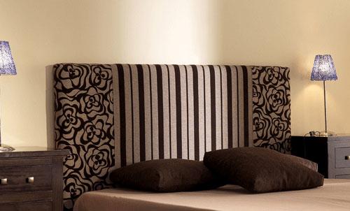 Cabeceros tapizados con tela la dama decoraci n - Telas para forrar cabecero cama ...