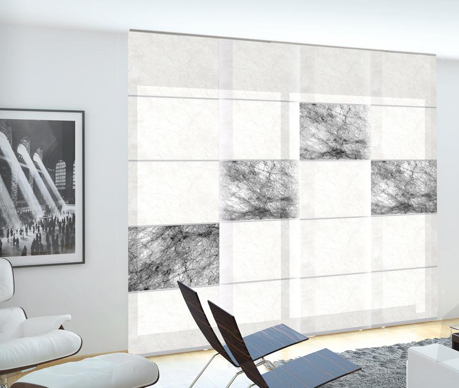 Panel Japonés Papyrus Combinado en Blanco y Negro