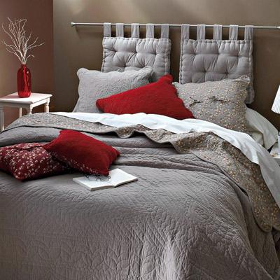 Cabeceros originales con telas la dama decoraci n - Telas para forrar cabecero cama ...