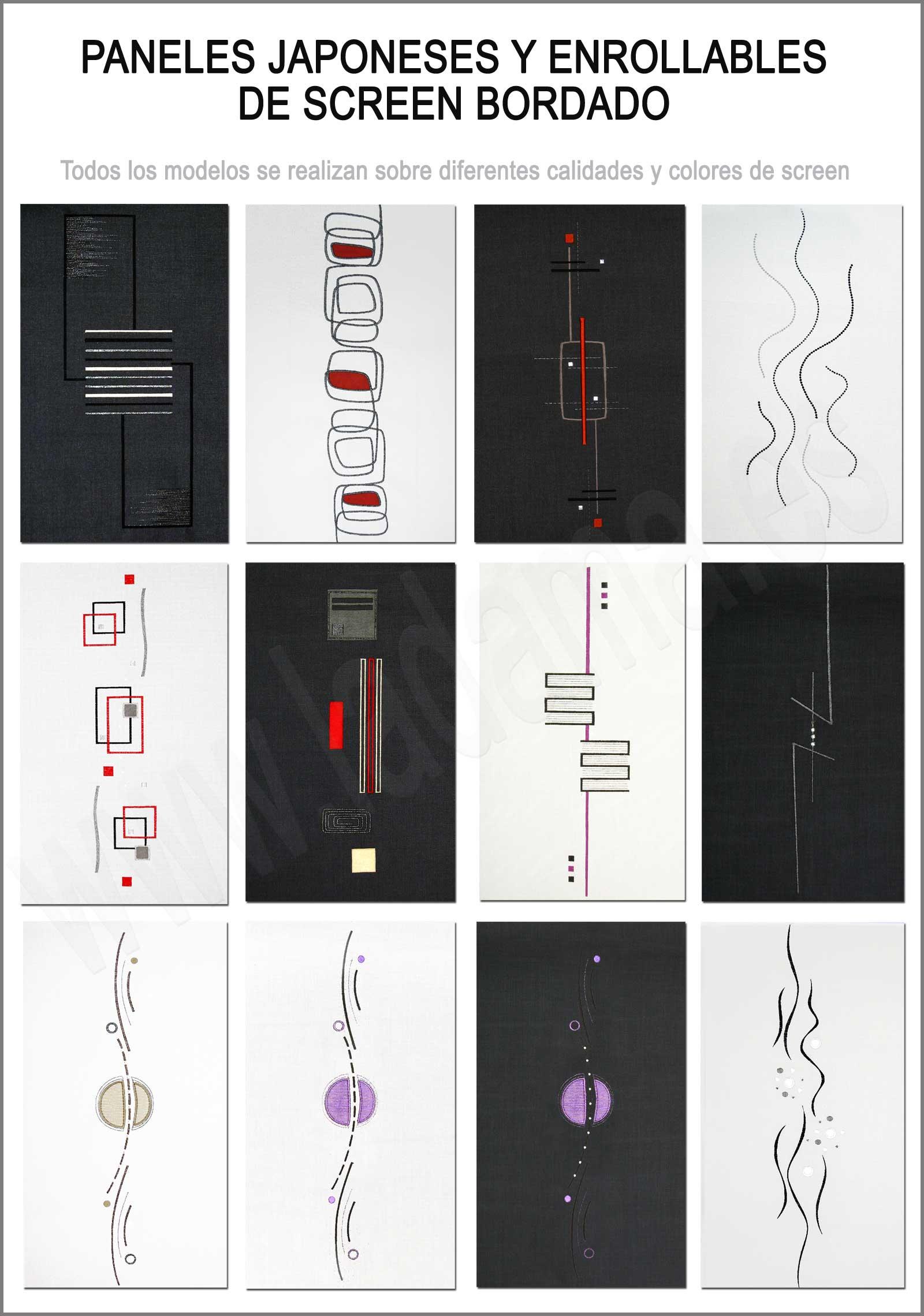 Tipos de Bordados para panel japonés de screen