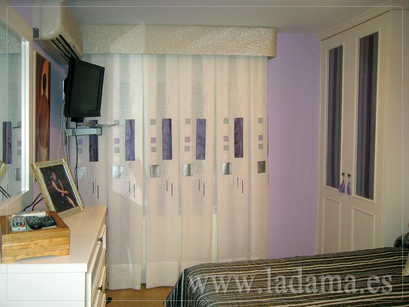 Cortinas de fuelles o palones en zaragoza for Cortinas dormitorio moderno
