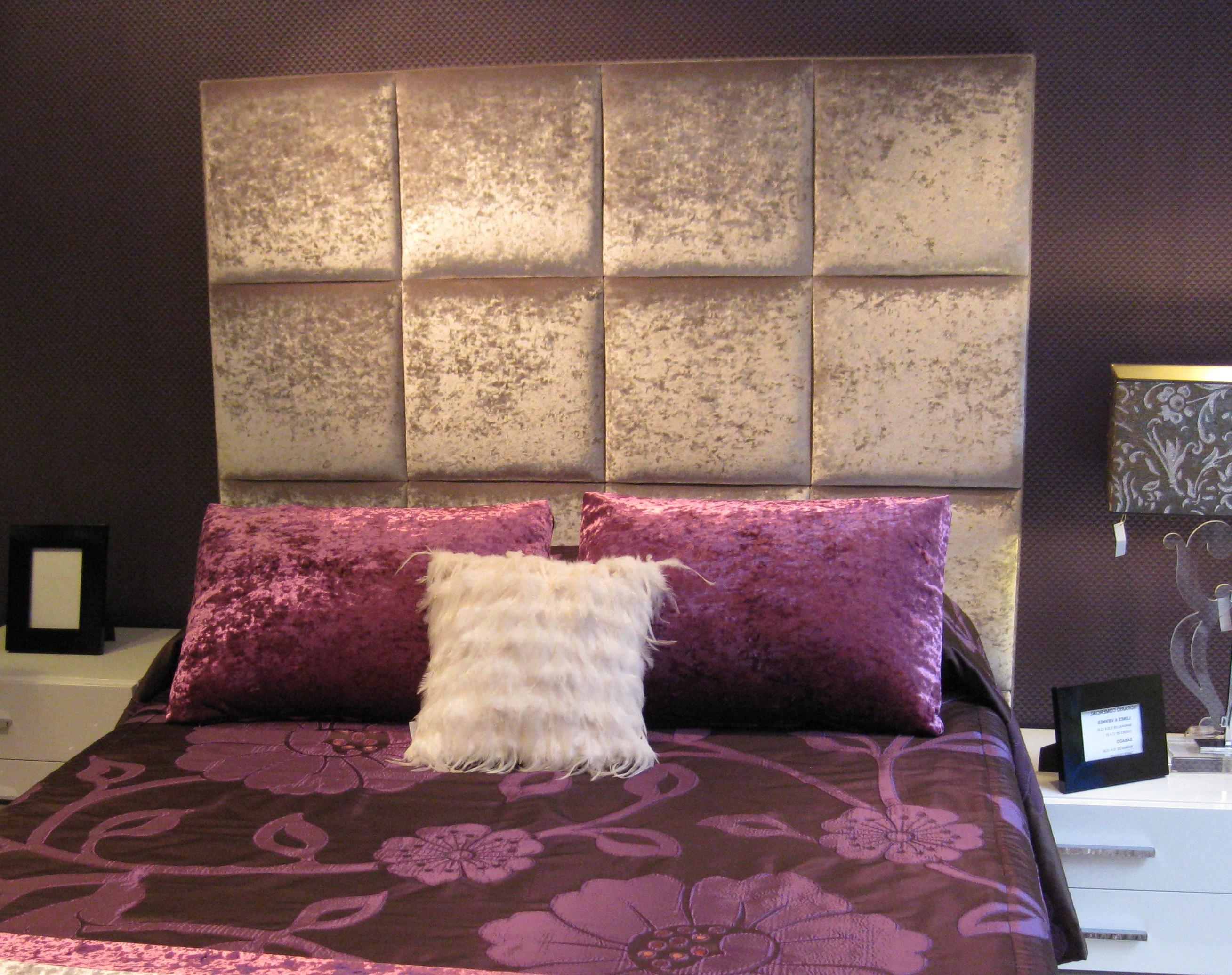 Cabeceros tapizados con tela la dama decoraci n for Cabeceros de cama tapizados