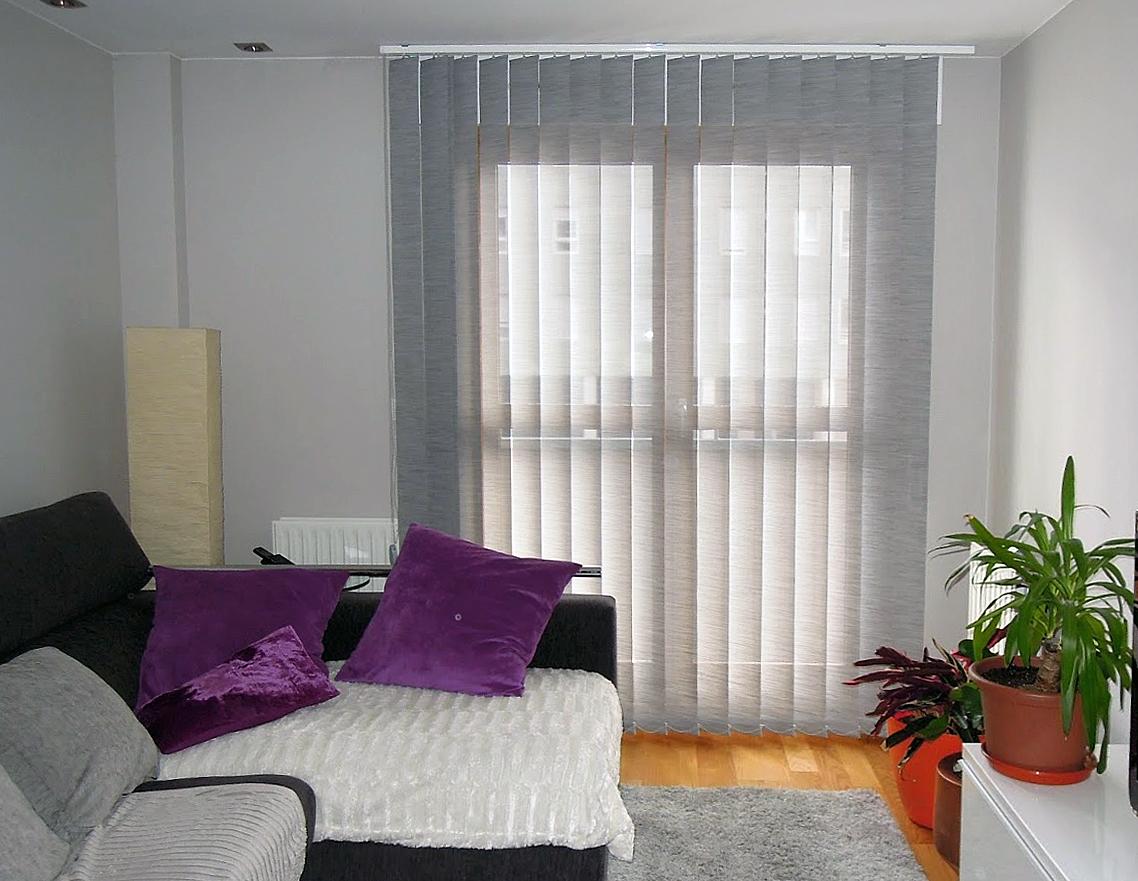 cortinas verticales screen lamas grises - La Dama Decoración