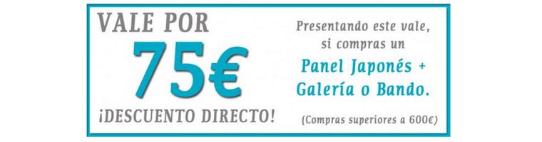 Hasta 100€ de Descuento al comprar un Panel Japonés + Galería o Bando