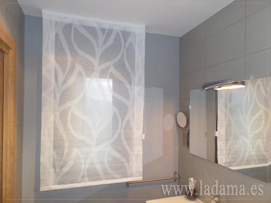 Cortinas De Baño A Medida:Estor para ventana de baño