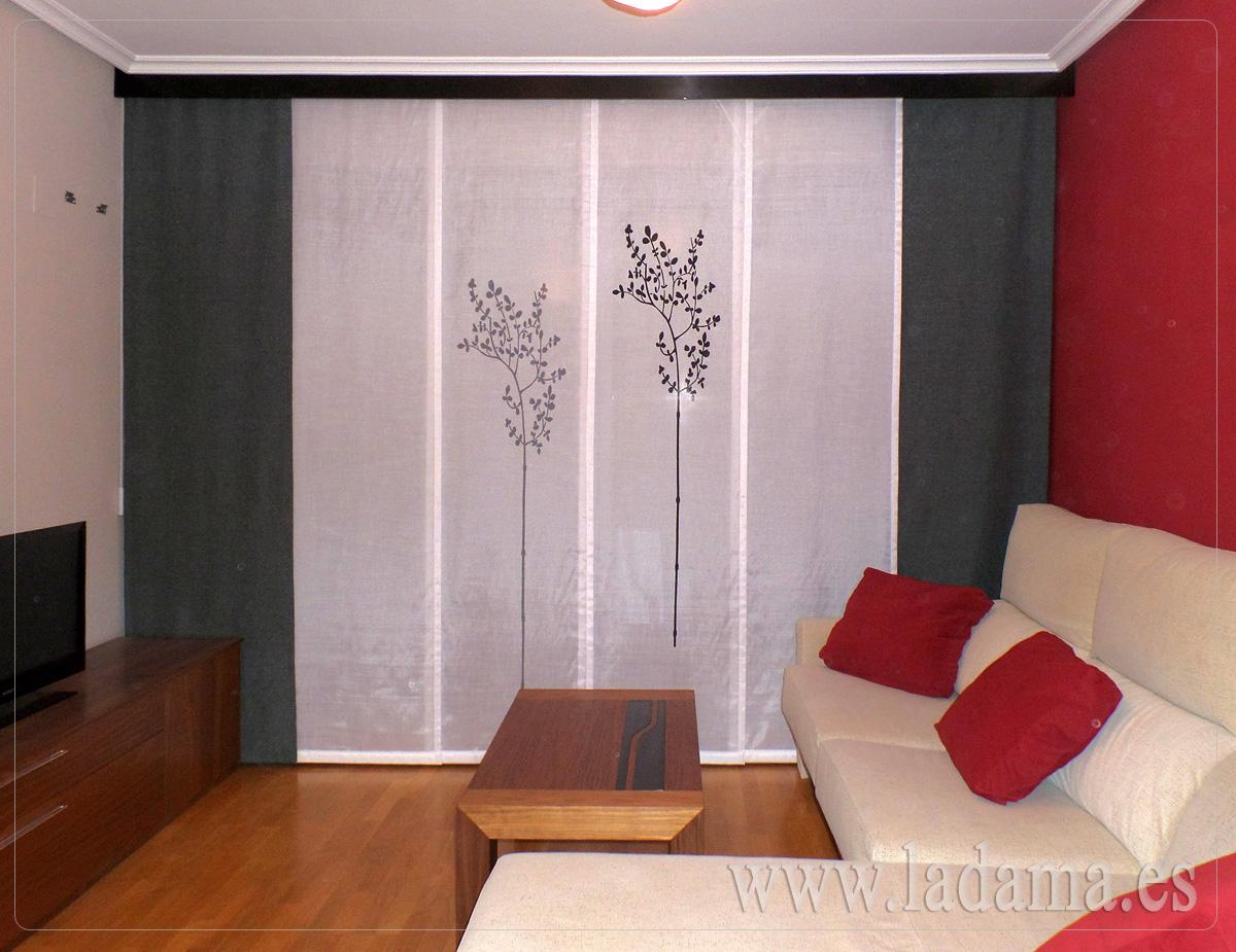 Paneles japoneses personalizados y originales en zaragoza - Disenos de cortinas para salones ...
