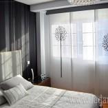 Panel japonés estampado para dormitorio