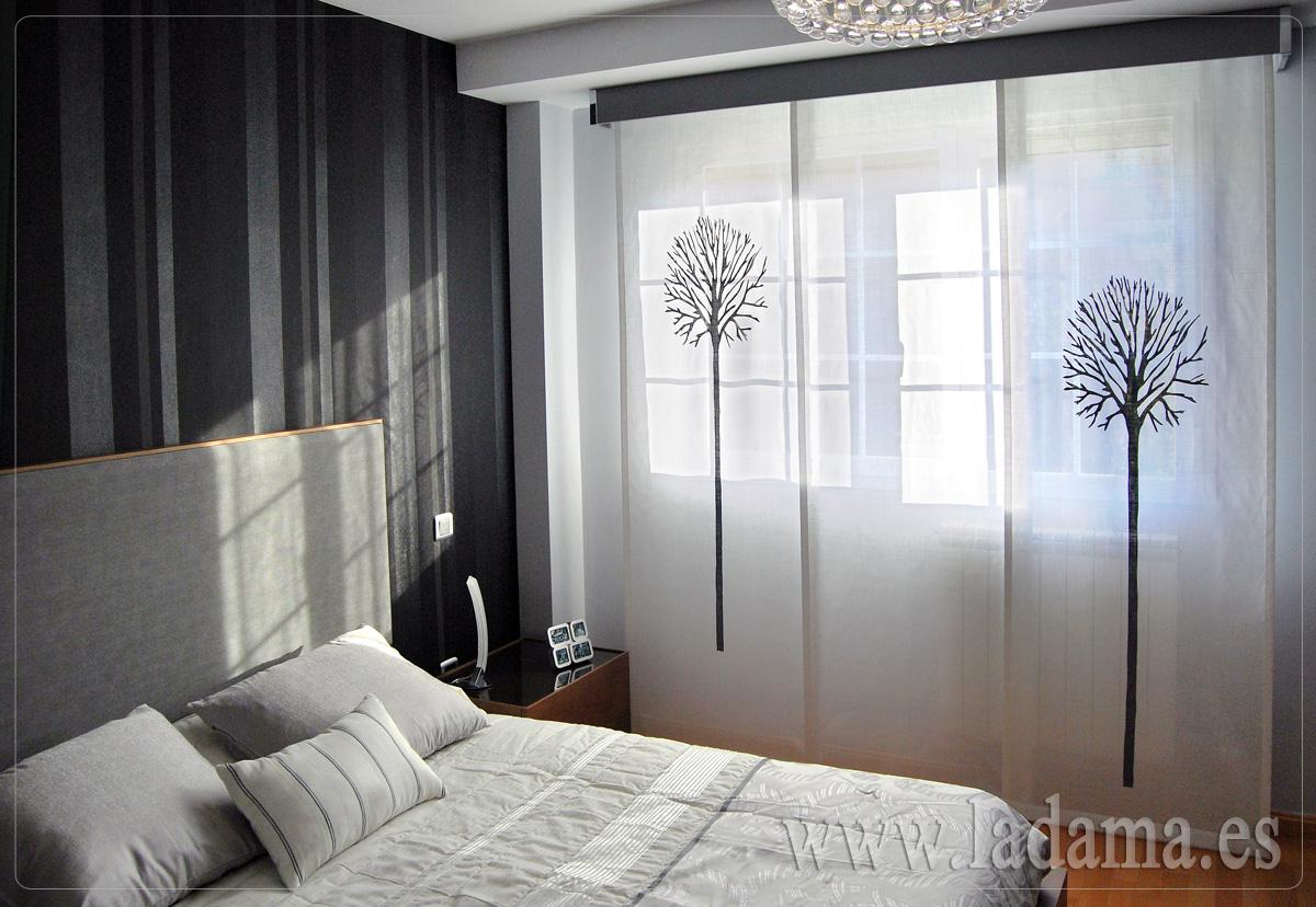 Paneles japoneses personalizados y originales en zaragoza for Cortinas para dormitorio de matrimonio