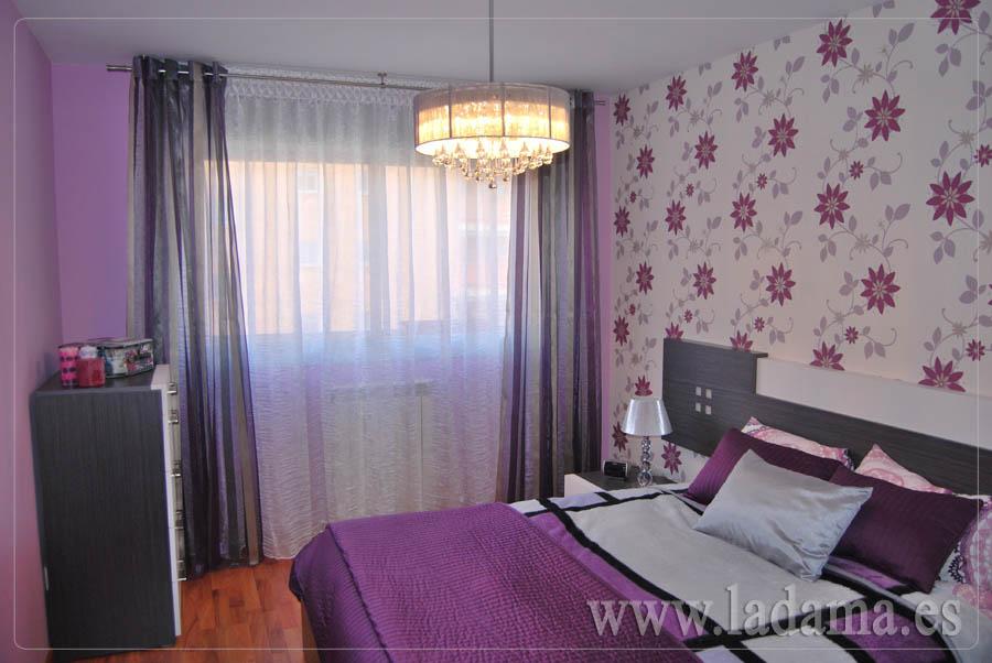 Cortinas moradas set de cortinas moon lila cortina for Cortinas moradas para dormitorio