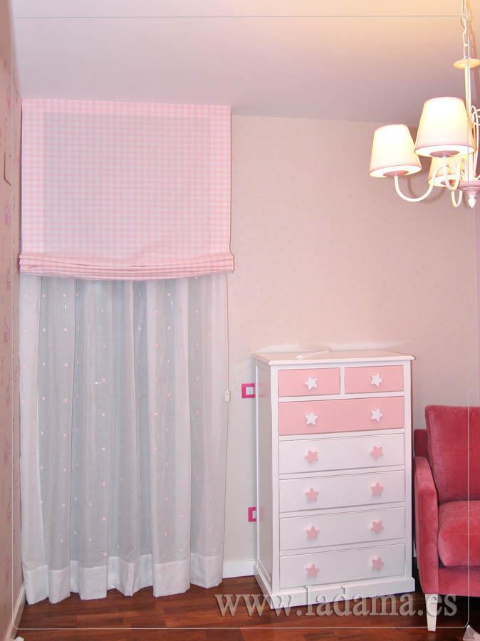 cortina y estor para habitacin infantil