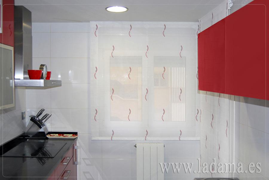 Estores para cocina estores a medida en zaragoza for Telas para cortinas de cocina modernas