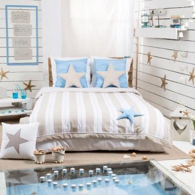 Habitación Juvenil con Telas para Dormitorios Juveniles de la Colección Dreams Beige