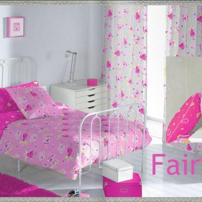 Dormitorio Infantil confeccionado con Telas para Habitación de Niña Fairy