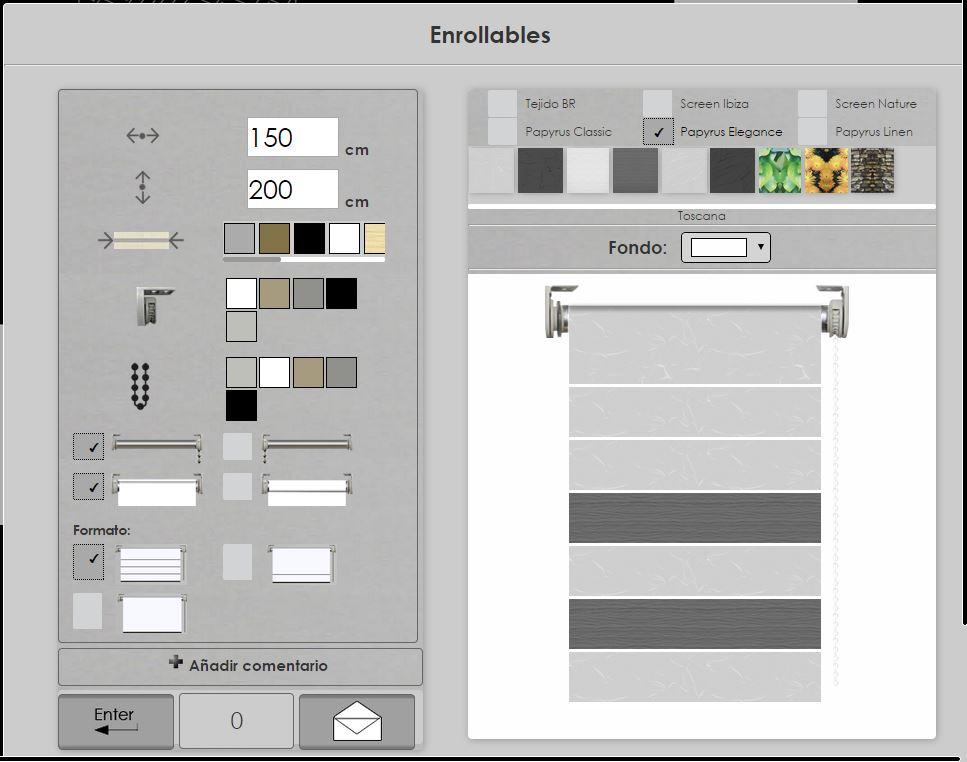 Simulador enrollables paneles japoneses y verticales for Simulador cocinas online