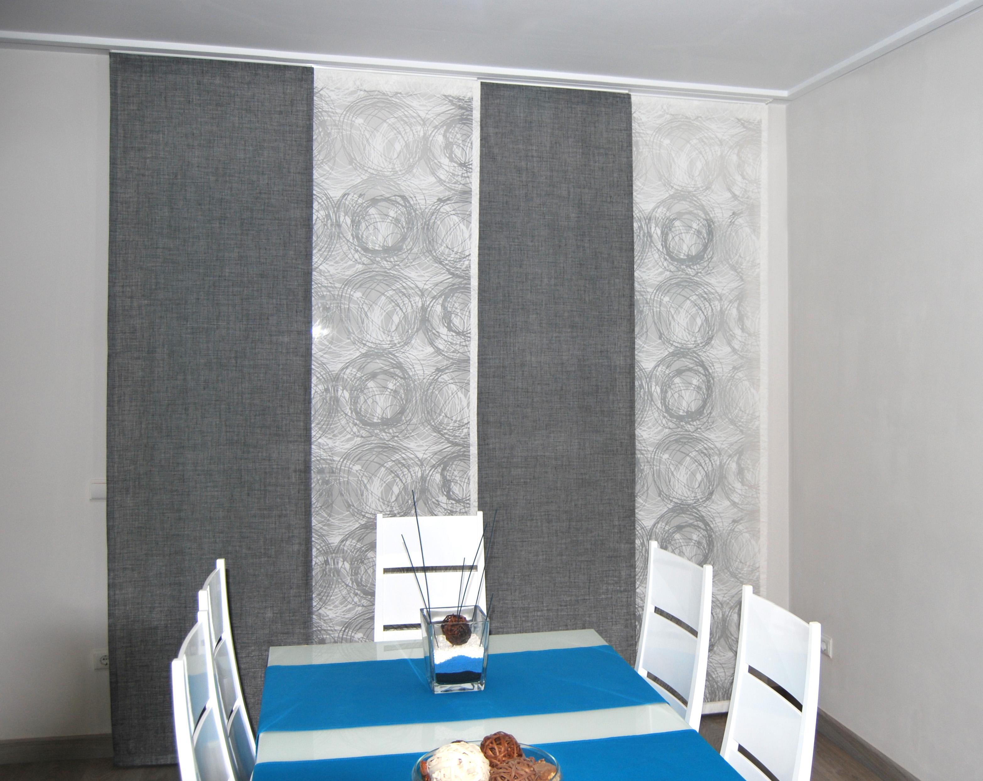 Paneles japoneses de otros tejidos la dama decoraci n for Telas para paneles japoneses