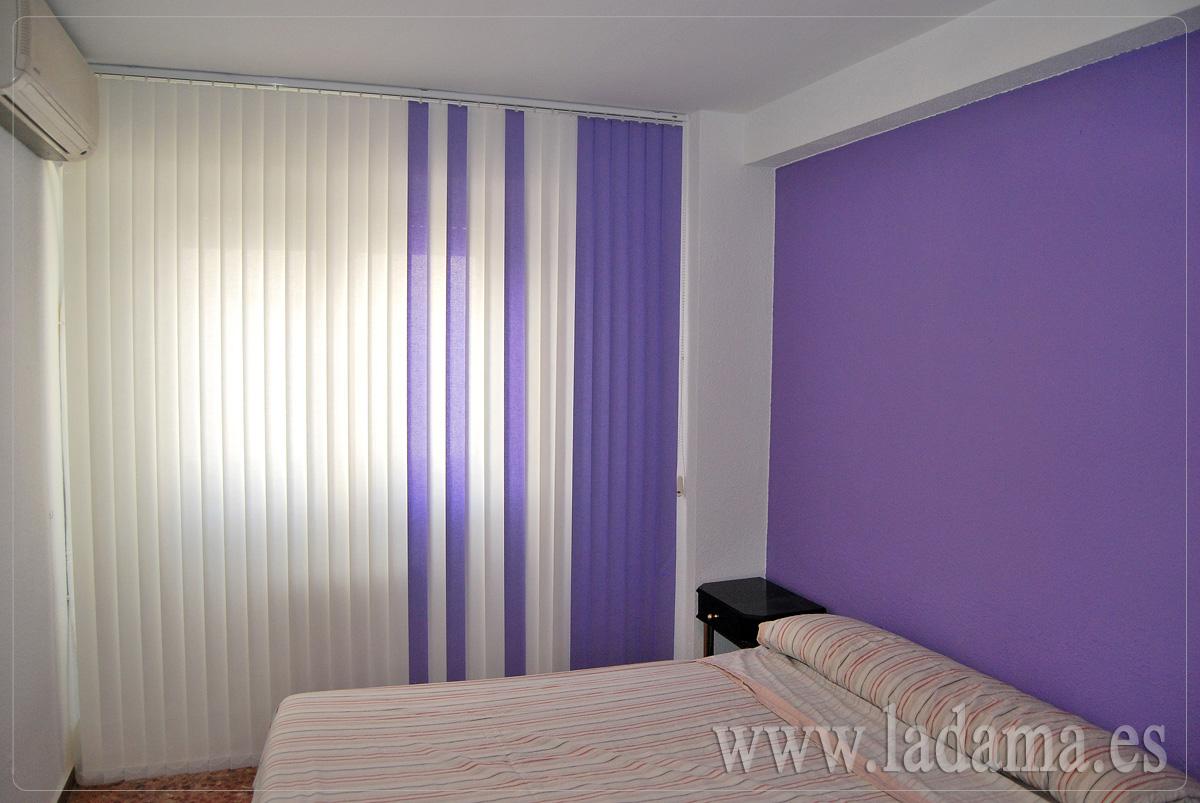 Cortinas verticales de loneta resinada en zaragoza for Cortinas y estores para dormitorios