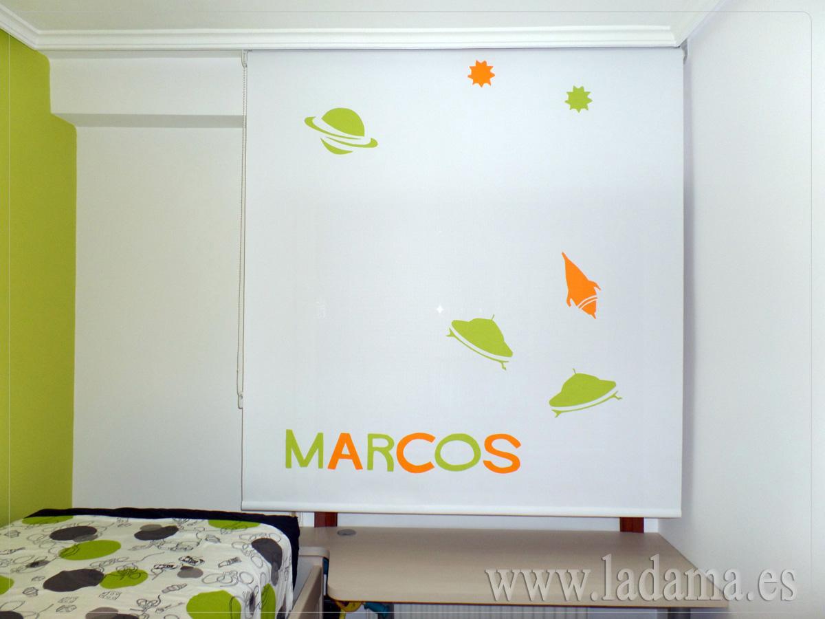 Cortinas enrollables de la ventana de colores en zaragoza - Estores personalizados con fotos ...