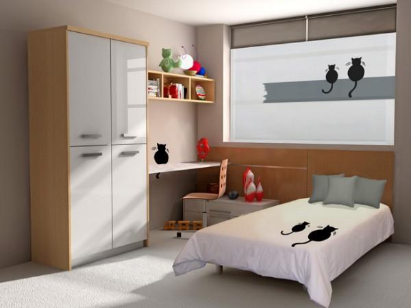 Cortinas enrollables de la ventana de colores en zaragoza for Simulador dormitorio juvenil