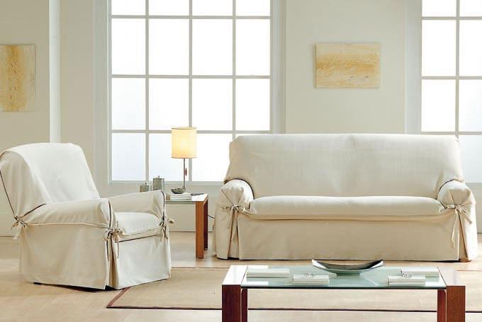 Fundas sof de lazos la dama decoraci n - Funda para sofas ...