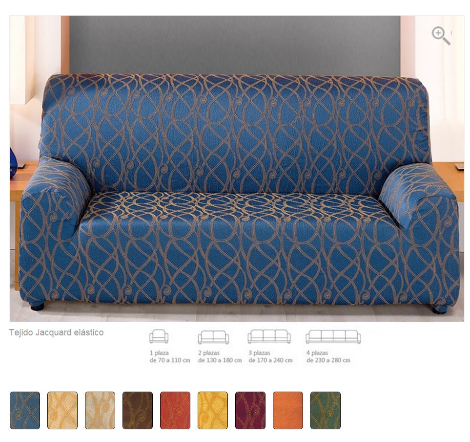 Fundas ajustables para sofas perfect telas funda para sof - Fundas sofa elasticas ...