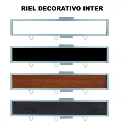 Rieles Decorativos para Cortinas. Colección Inter