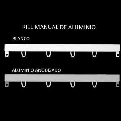 Rieles de Aluminio con Accionamiento Manual
