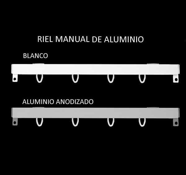 Rieles de aluminio para cortinas en zaragoza for Ganchos para cortinas de riel