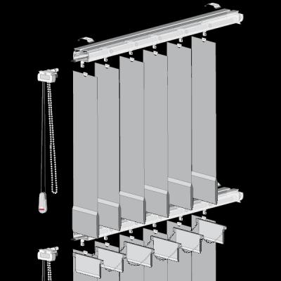 Rieles y barras de cortinas en zaragoza for Rieles para toldos de techo