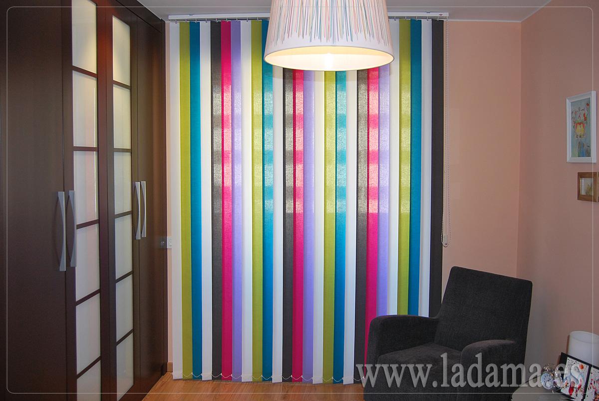 Cortinas verticales de loneta resinada en zaragoza - Cortinas dormitorios juveniles ...