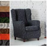 Funda de sofa orejero gris con dibujos