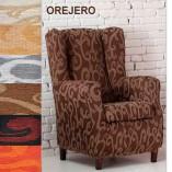 Funda Orejero marron con dibujo Duplex Over
