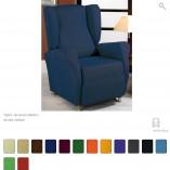 funda sillon orejero azul jacquard tania