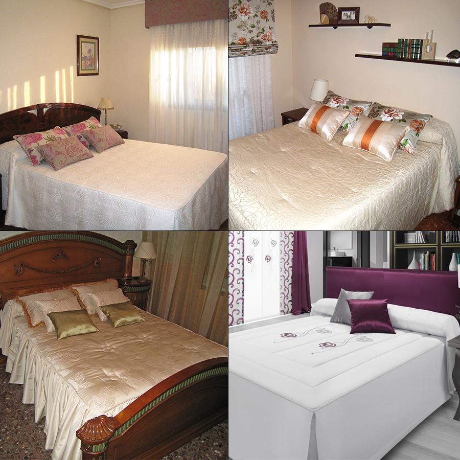 Colchas y edredones cl sicos confeccionados a medida la - Edredones para camas de 90 ...