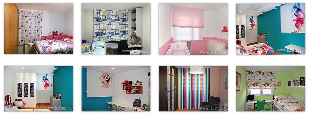 Fotograf as de ambientes cortinas en salones dormitorios - Cortinas habitacion juvenil ...