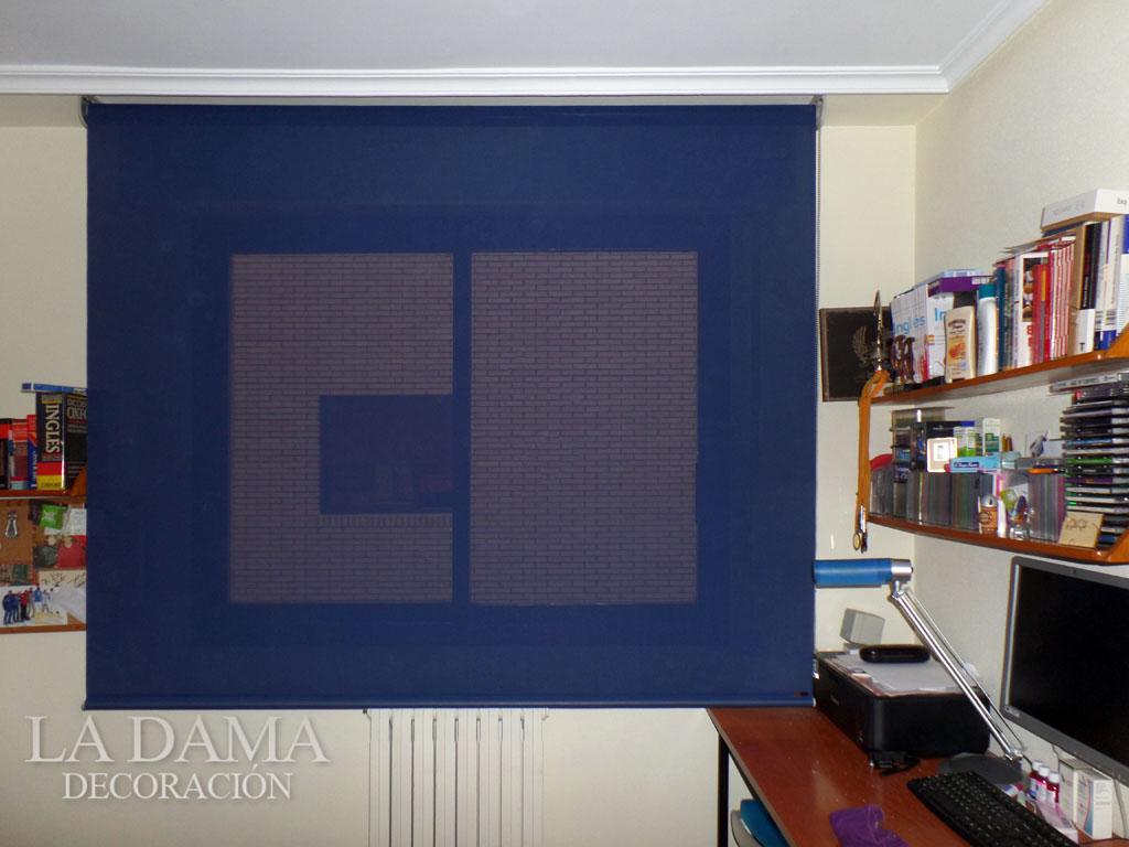 Enrollables de screen azul habitaci n juvenil la dama - Habitacion juvenil azul ...