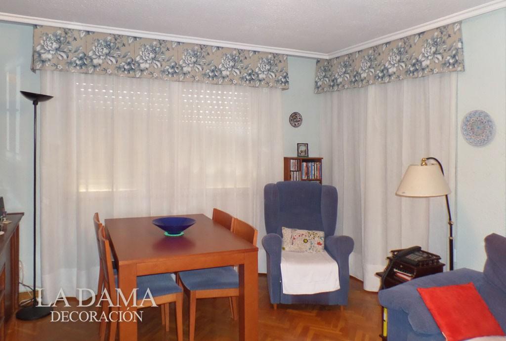 Volantes para cortinas de estilo cl sico la dama decoraci n for Cortinas salon clasico