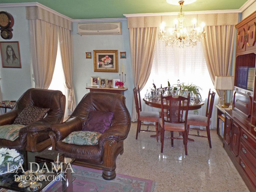 Volantes para cortinas de estilo cl sico la dama decoraci n Cortinas para salones clasicos