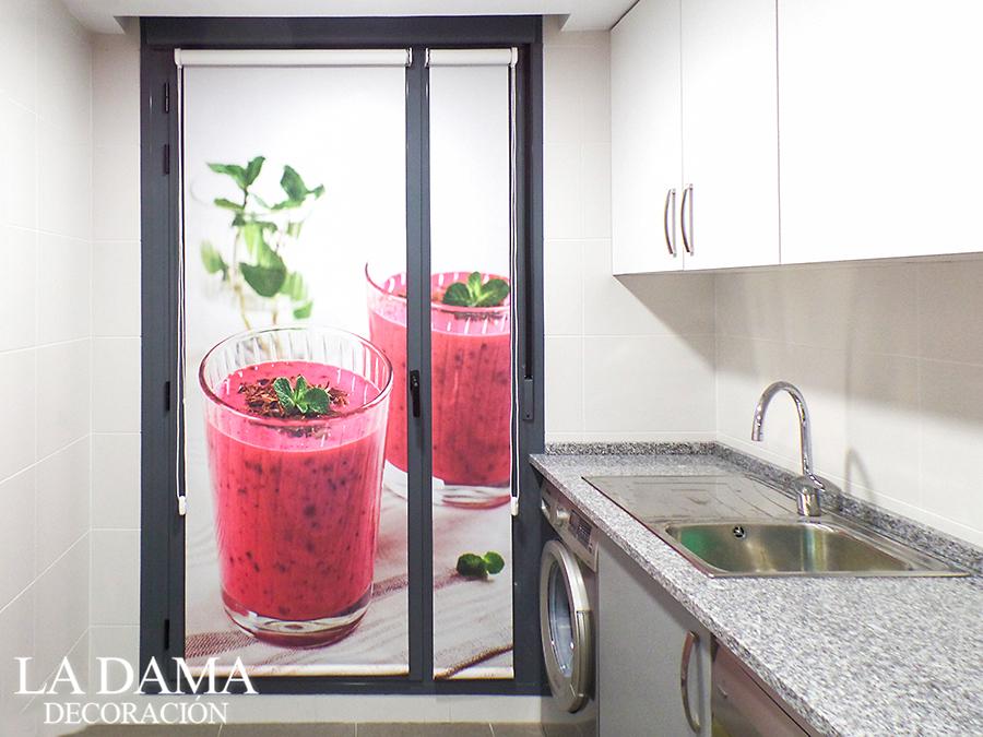 Cortina enrollable personalizadas en cocina la dama for Simulador cocinas online