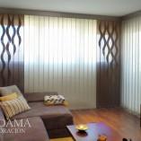 Cortinas Verticales con Formas Murano