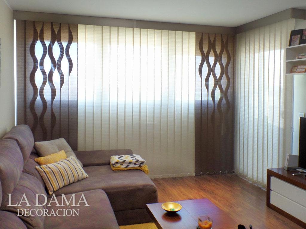 Cortinas verticales con formas en zaragoza - Formas de cortinas ...