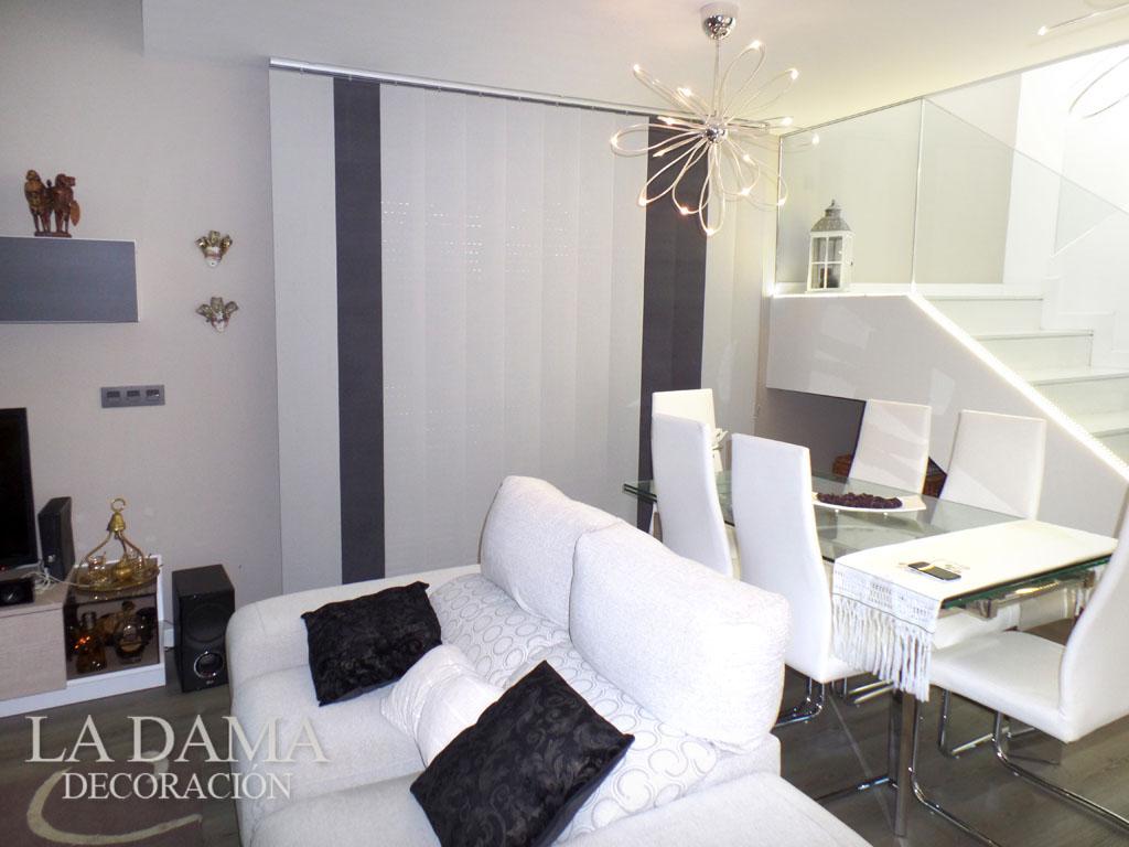 Cortinas verticales screen en zaragoza - Cortinas para salon estilo moderno ...