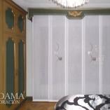 Panel Japones Bordado dormitorio clásico con galería
