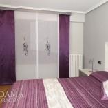 Paneles japoneses dormitorio granate