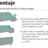 instrucciones para como montar una Chaiselongue práctica