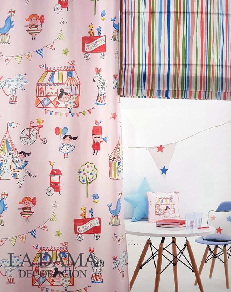 Telas infantiles la casita de alberta la dama decoraci n - Telas de cortinas infantiles ...