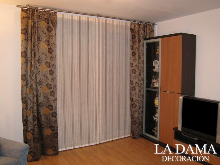 Cortinas con estores las claves para combinarlas la dama decoraci n - Todo cortinas y estores ...
