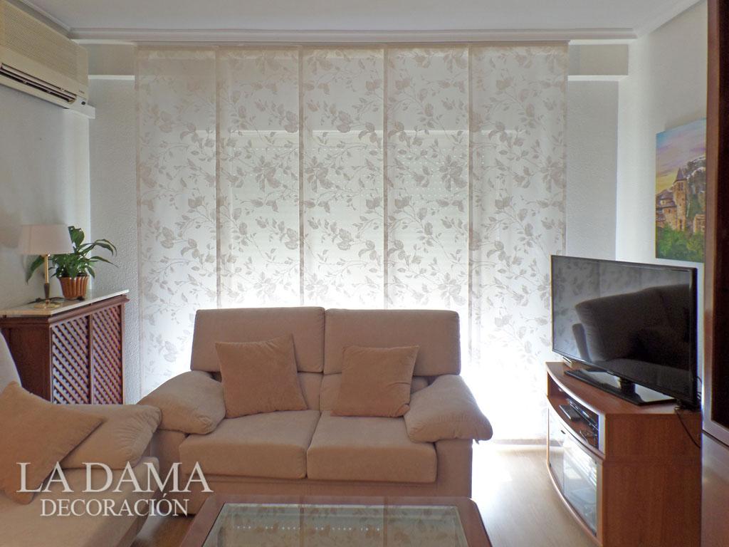Paneles japoneses de tela en zaragoza a medida - Paneles chinos cortinas ...