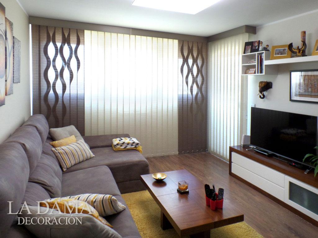 Enam rate de las cortinas verticales con ondas la dama for Simulador habitaciones online