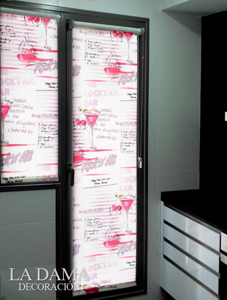 Cortinas para cocinas modernas sabes elegirlas for Estores enrollables para puertas