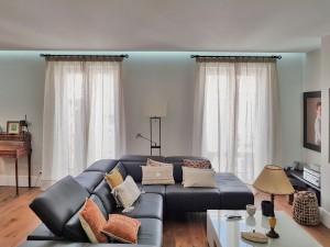 cortina lino salón
